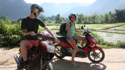 motorscooter in mai chau